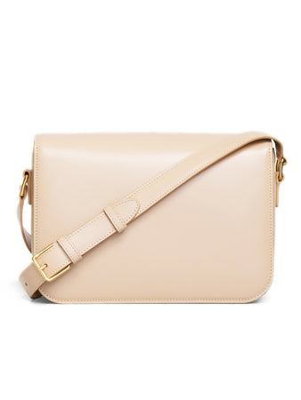 Medium Triomphe Bag in Nude Shiny Calfskin