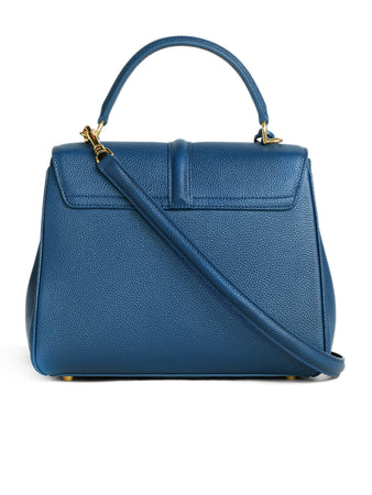 Small 16 Bag in Petrol Grained Calfskin