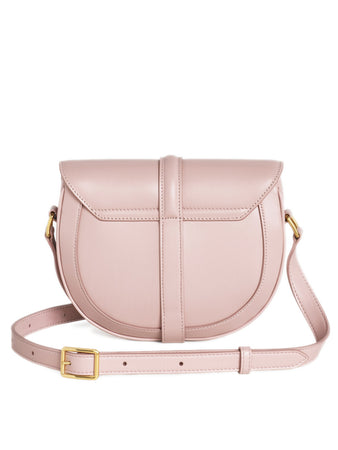 Small Besace 16 Bag in Vintage Pink Satinated Calfskin