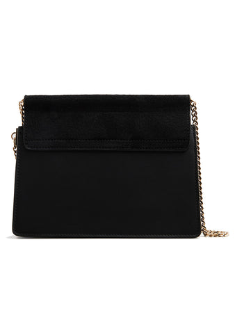 Faye Mini Chain Bag in Black