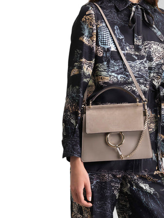 Faye Small Bag in Motty Grey