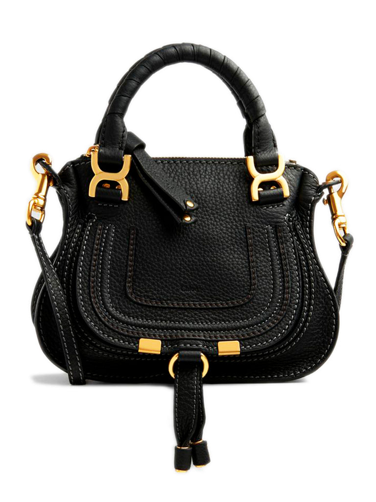 Mini Marcie Handbag in Black