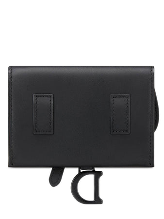 Saddle Nano Pouch in Black Ultramatte Calfskin