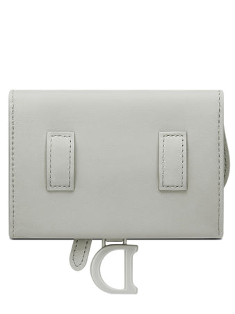 Saddle Nano Pouch in Gray Stone Ultramatte Calfskin