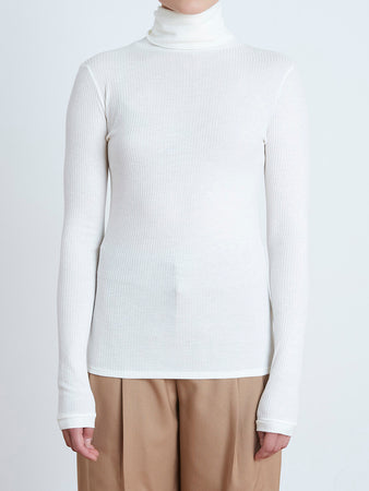 Gallinara Ribbed Turtleneck Top