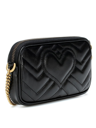 GG Marmont Mini Chain Bag in Black