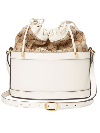 Horsebit 1955 Bucket Bag in White