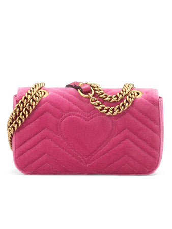 GG Marmont Mini Velvet Bag in Pink