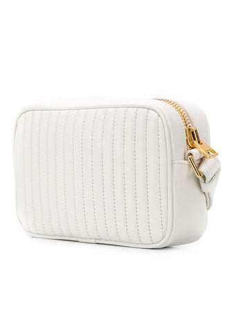 Monogram Leather Camera Bag in White