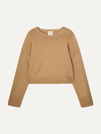 Bruzzi Cropped Wool and Cashmere-blend Sweater