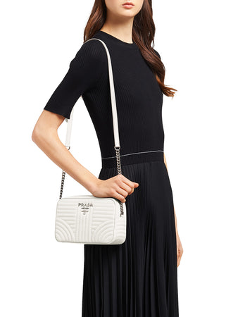 Diagramme Crossbody Bag in White