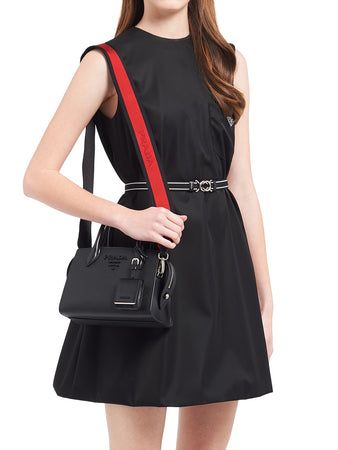 Saffiano Leather Prada Monochrome Bag in Black