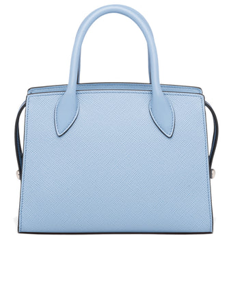 Saffiano Leather Prada Monochrome Bag in Astrale Blue