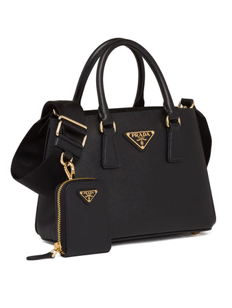 Saffiano Leather Handbag in Black