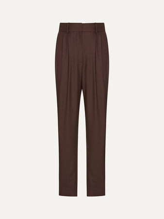 Rurutu Pleated Wool Slim-fit Pants