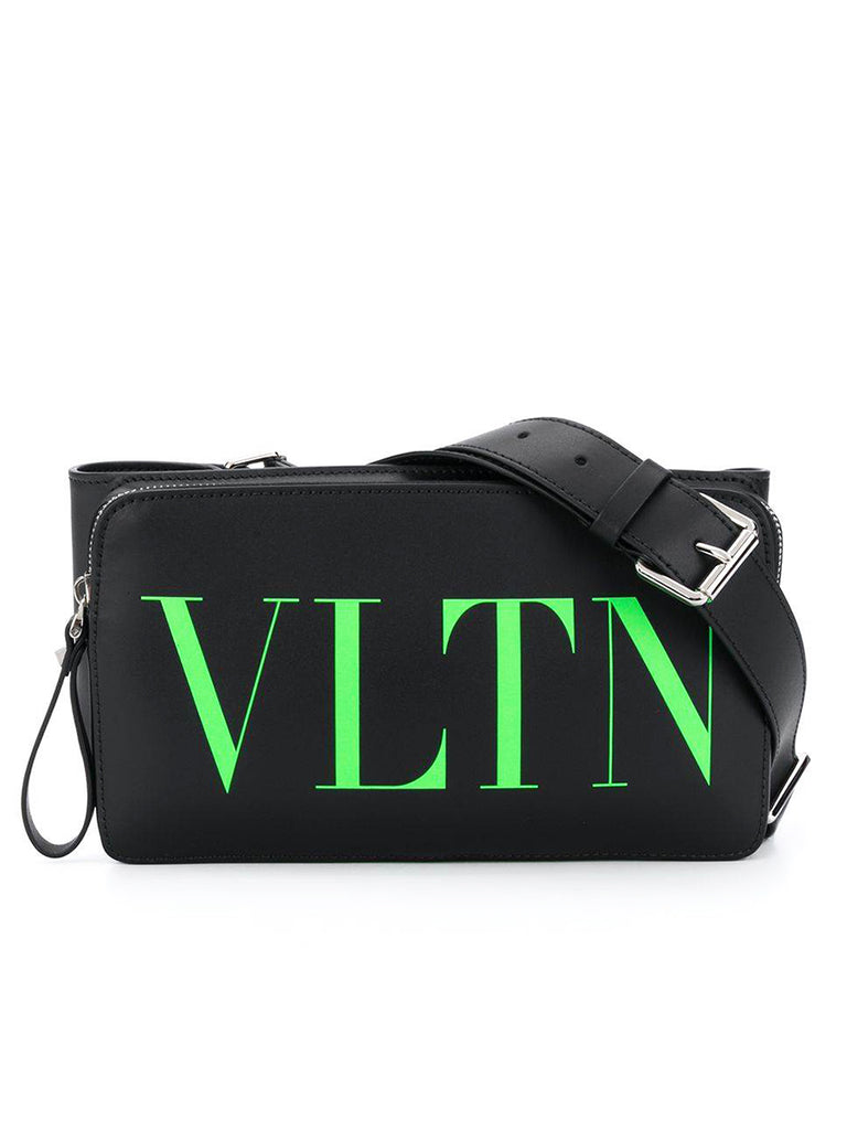 VLTN Logo Belt Bag in Neon Green
