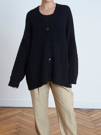 Zannone Twisted Cardigan