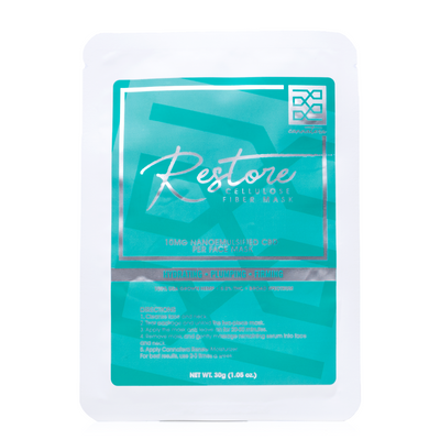 Cannatera RESTORE CBD Cellulose Fiber Face Mask - Reef CBD