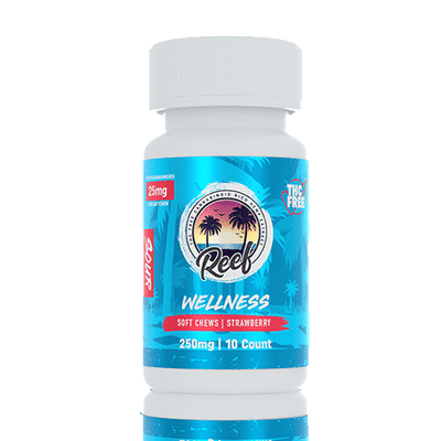 Reef Wellness Sour Strawberry CBD Gummies - Reef CBD