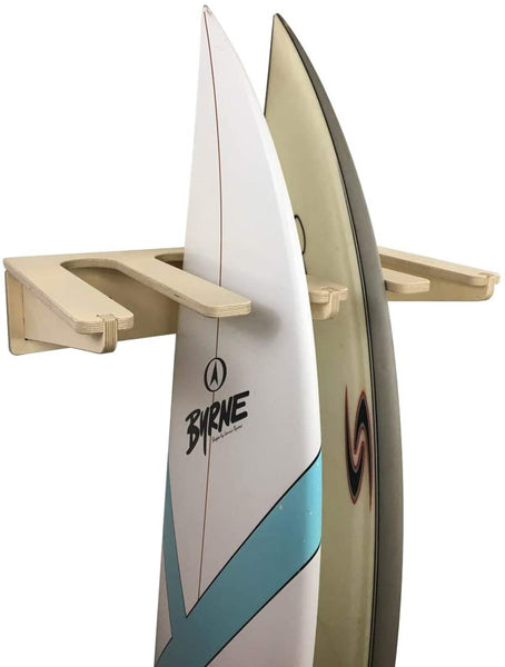 Surfboard Wall Rack - Wooden Vertical Quad Cradle