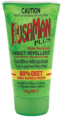 Insect Repellant - Bushman Plus 80% Deet with Sunscreen