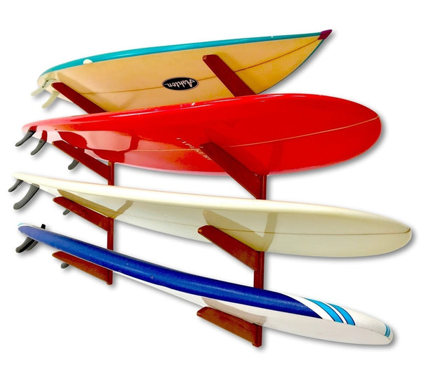 Surfboard Wall Rack - Wooden Quad by Spire