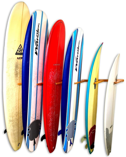 Surfboard Wall Rack - Wooden Vertical Quad by Spire PRE-ORDER FOR FEB DELIVERY