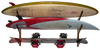 Surfboard Wall Rack - Wooden Double / Triple