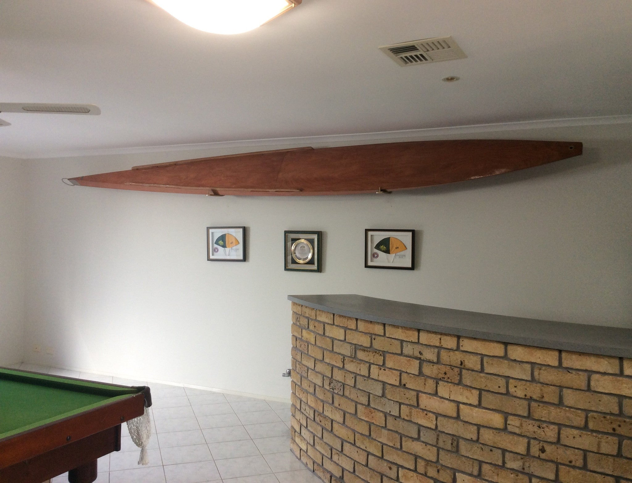 uk rack wooden wall of double surfboard picclick