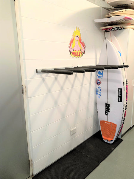Surfboard Wall Rack - Quad VERTICAL Aluminium by Curve