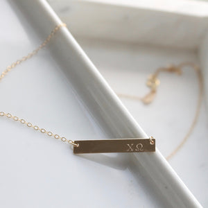 Sorority Necklaces | Gold Sorority Jewelry