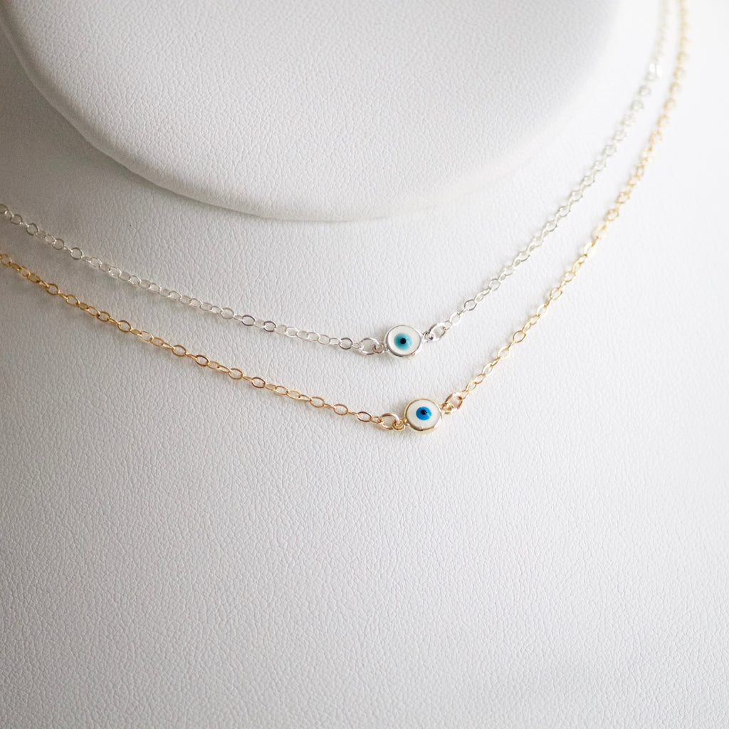 Evil Eye Necklace by Little Hawk Jewelry