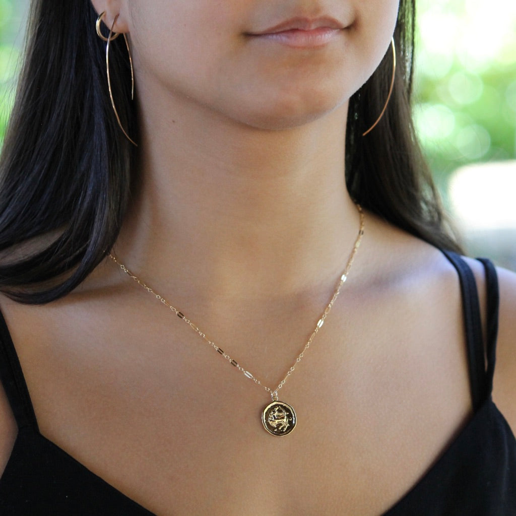 Zodiac Coin Necklace | Little Hawk Jewelry