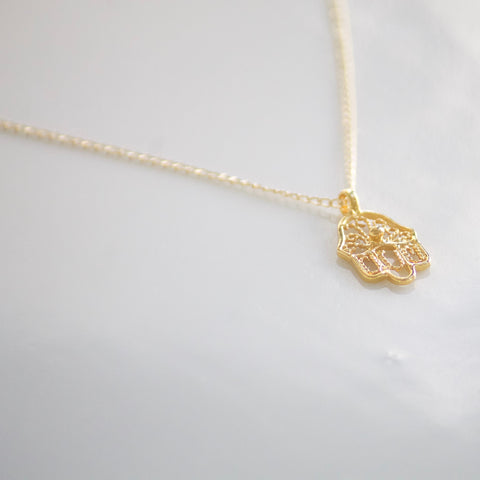 Gold Hamsa Necklace | Little Hawk Jewelry
