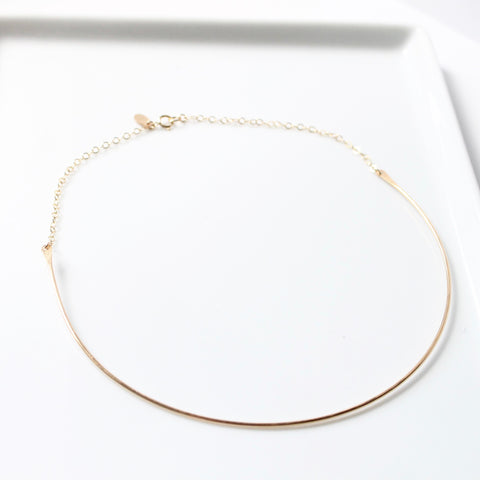 Gold Choker Necklace | Little Hawk Jewelry