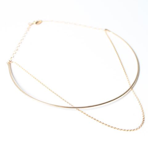 Choker Necklace - Gold or Silver | Little Hawk Jewelry