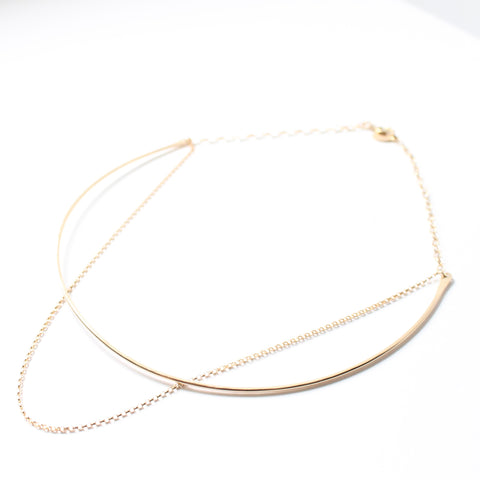Hammered Double Choker Necklace