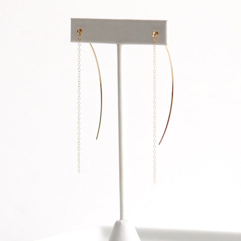 Chain Threader Earrings | Little Hawk Jewelry