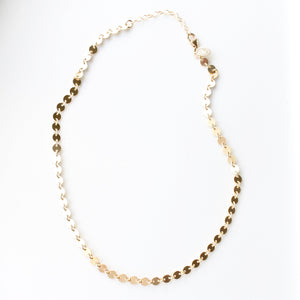 Gold Sequin Choker Necklace