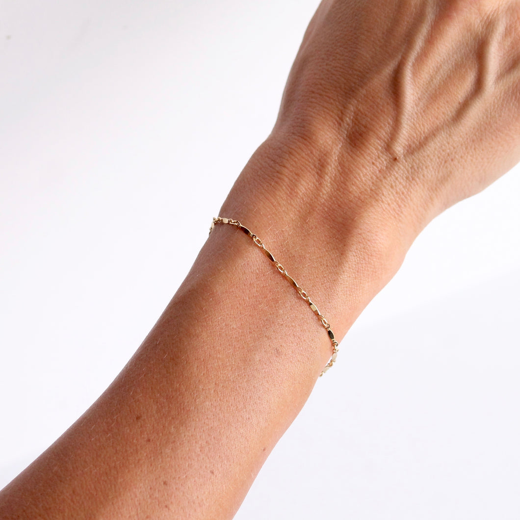 Dainty Bracelet | Little Hawk Jewelry | 14k Gold filled and sterling silver
