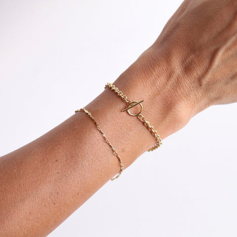 Delicate Jewelry by Little Hawk Jewelry | Chunk Toggle Bracelet