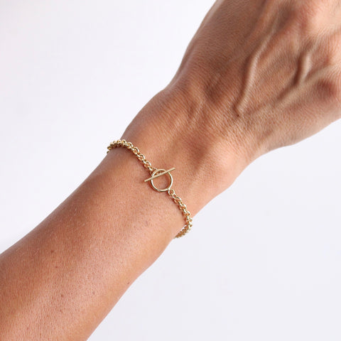 Gold Filled Jewelry | www.LittleHawkJewelry.com | Toggle Bracelet