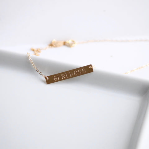 GIRLBOSS Necklace - 14k Gold Filled and Sterling Silver