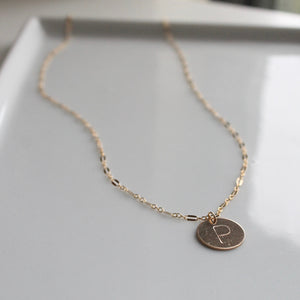 Initial Vintage Coin Necklace