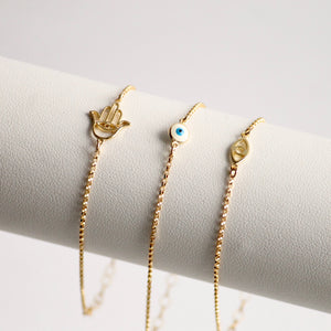 Hamsa and Evil Eye Gold Jewelry | Little Hawk Jewelry