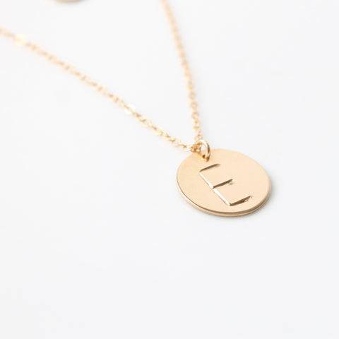 Initial Necklace | Little Hawk Jewelry