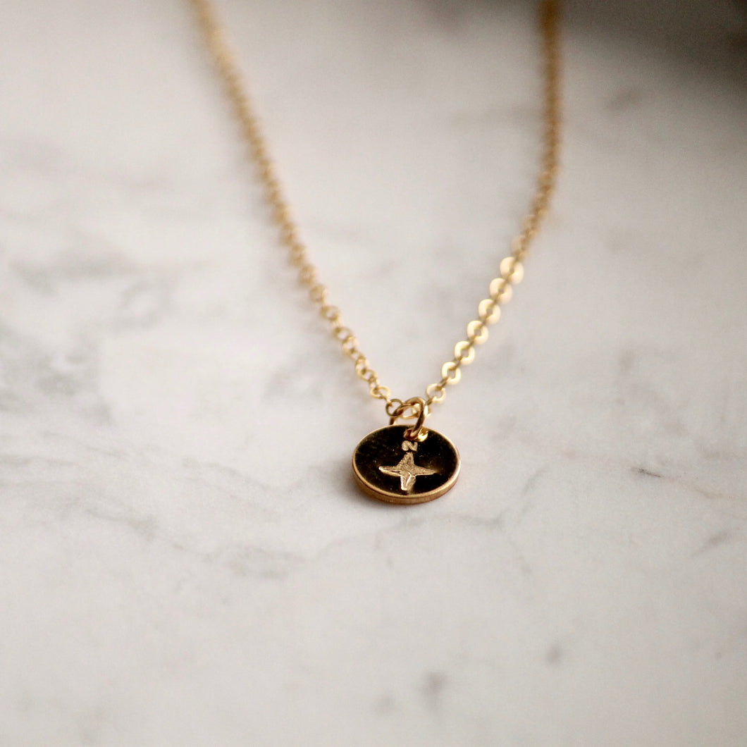Compass True North Necklace | Little Hawk Jewelry