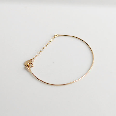 Half Moon Bracelet | 14k Gold Filled | Little Hawk Jewelry