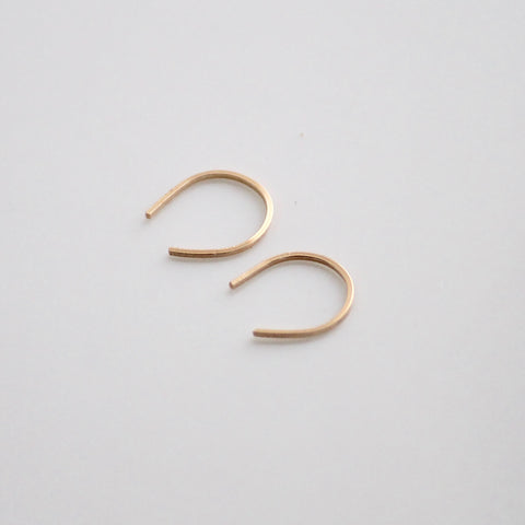 Horseshoe Threader Earrings | Little Hawk Jewelry