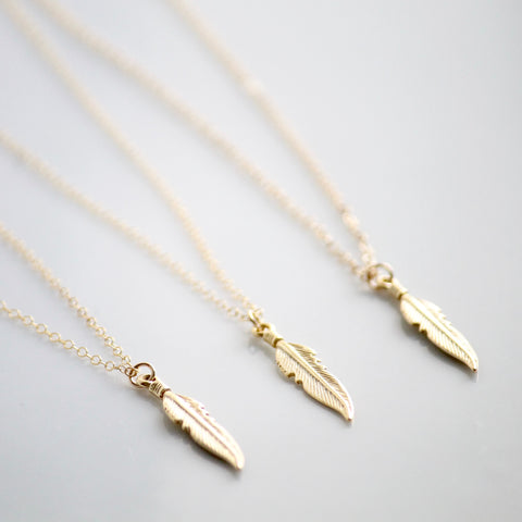 Feather Necklace | Dainty Necklaces | Little Hawk Jewelry